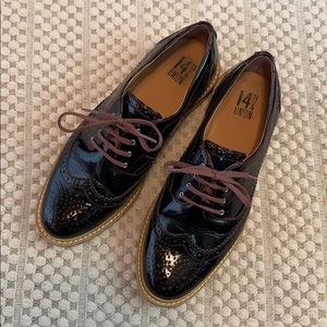 14th & Union wingtip oxford patent 7.5